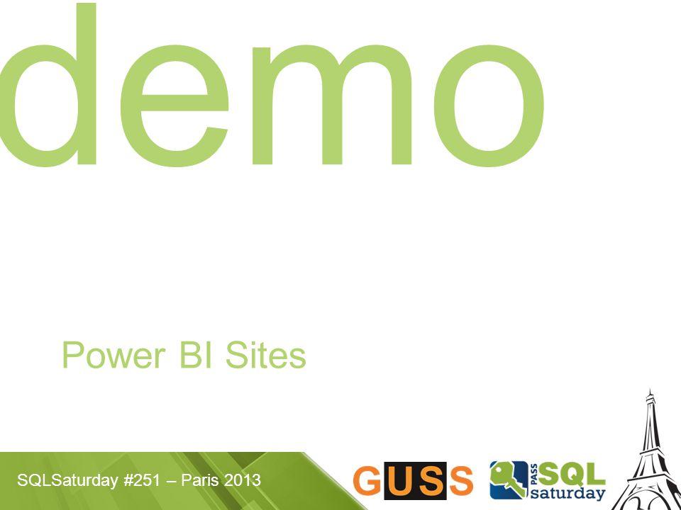 SQLSaturday #251 – Paris 2013 demo Power BI Sites
