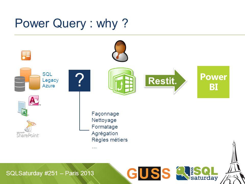 SQLSaturday #251 – Paris 2013 Power Query : why . Restit.
