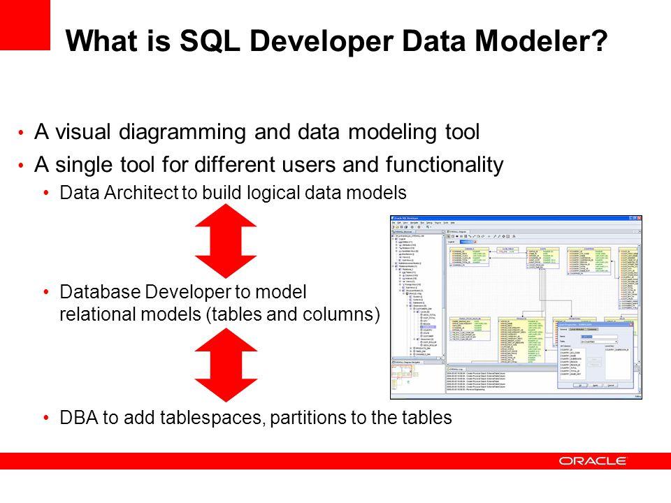 Why use Oracle SQL Developer Modeler.