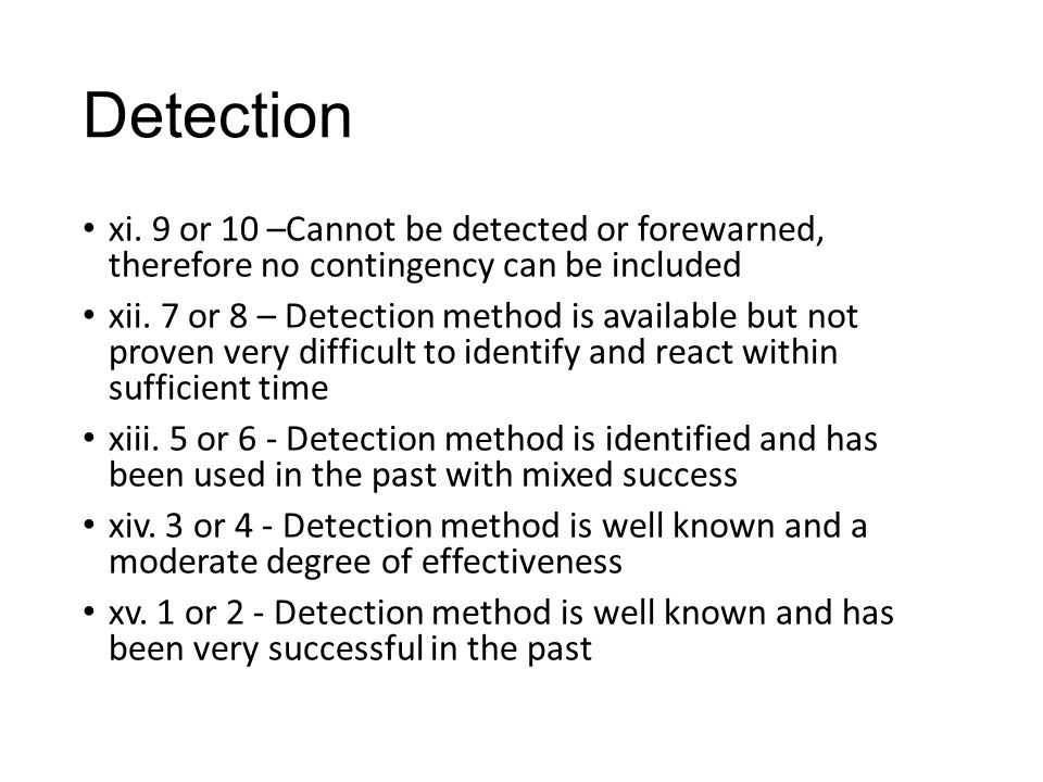 Detection xi.