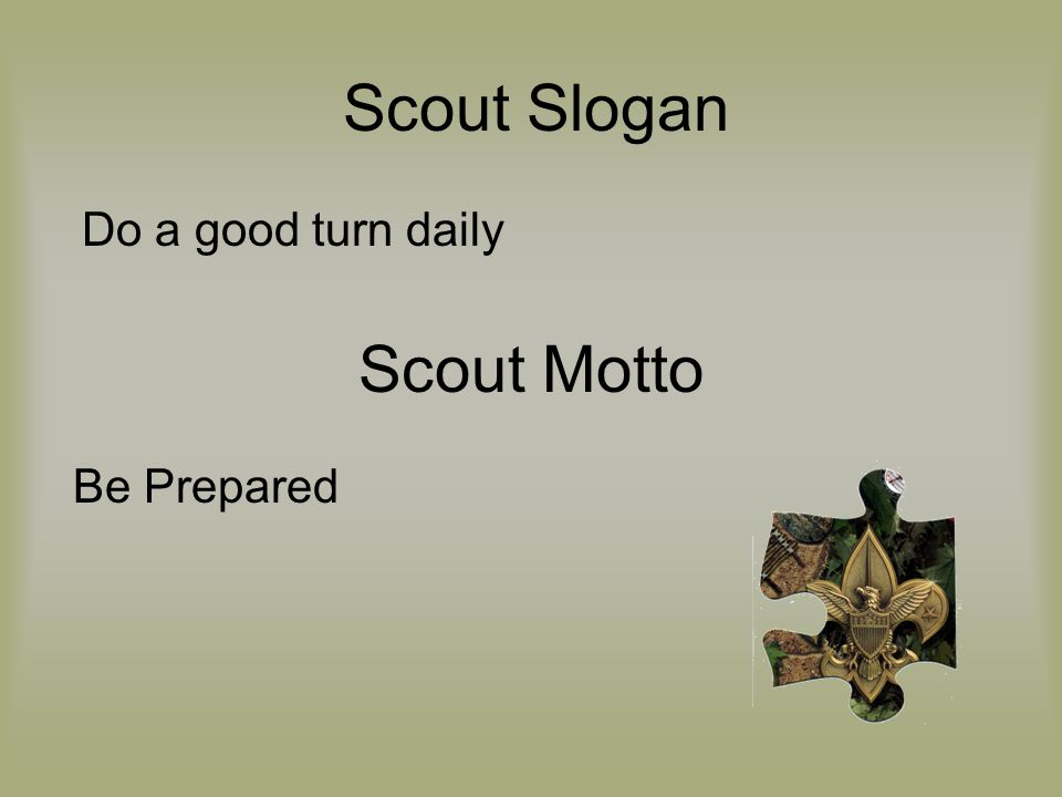 Be Prepared Scout Motto Scout Slogan Do a good turn daily
