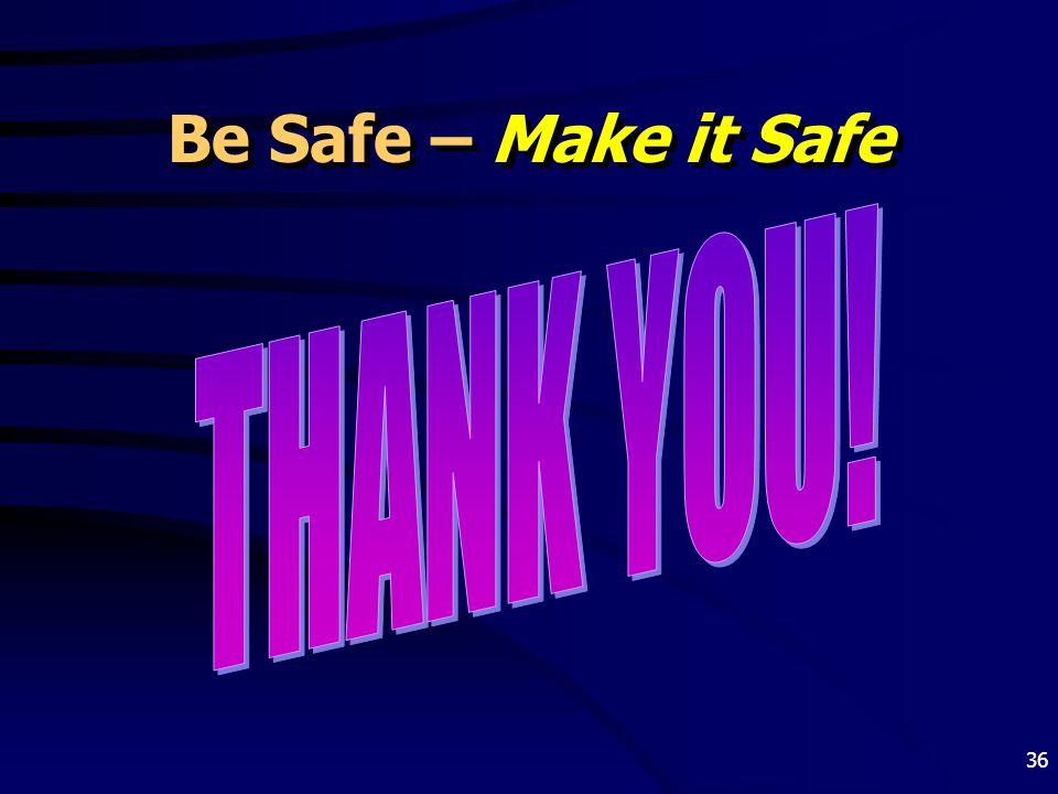 36 Be Safe – Make it Safe