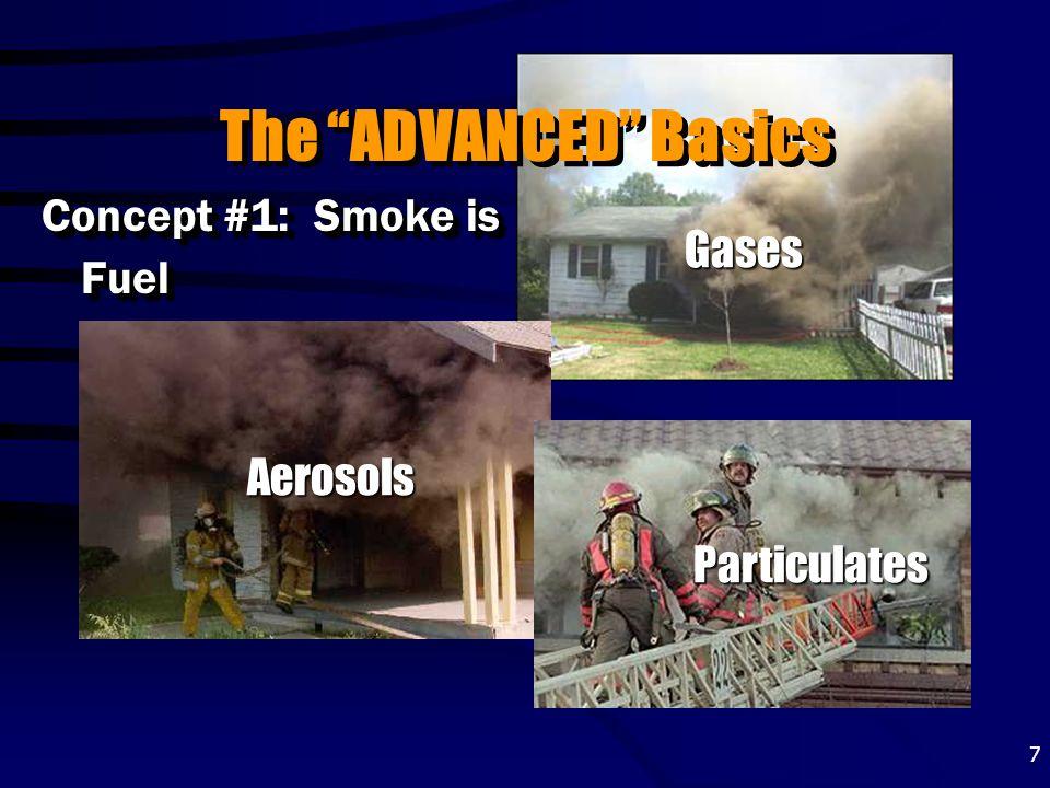 "7 The ""ADVANCED"" Basics Concept #1: Smoke is Fuel Particulates Aerosols Gases"