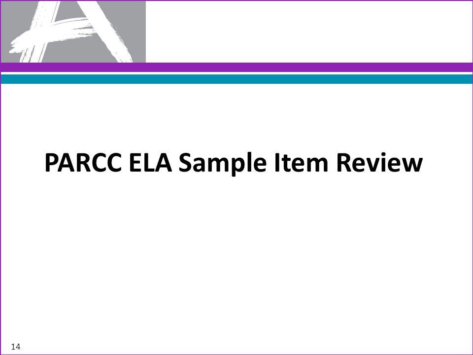 PARCC ELA Sample Item Review 14