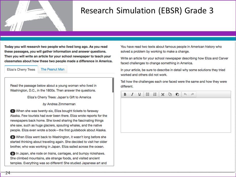 Research Simulation (EBSR) Grade 3 24