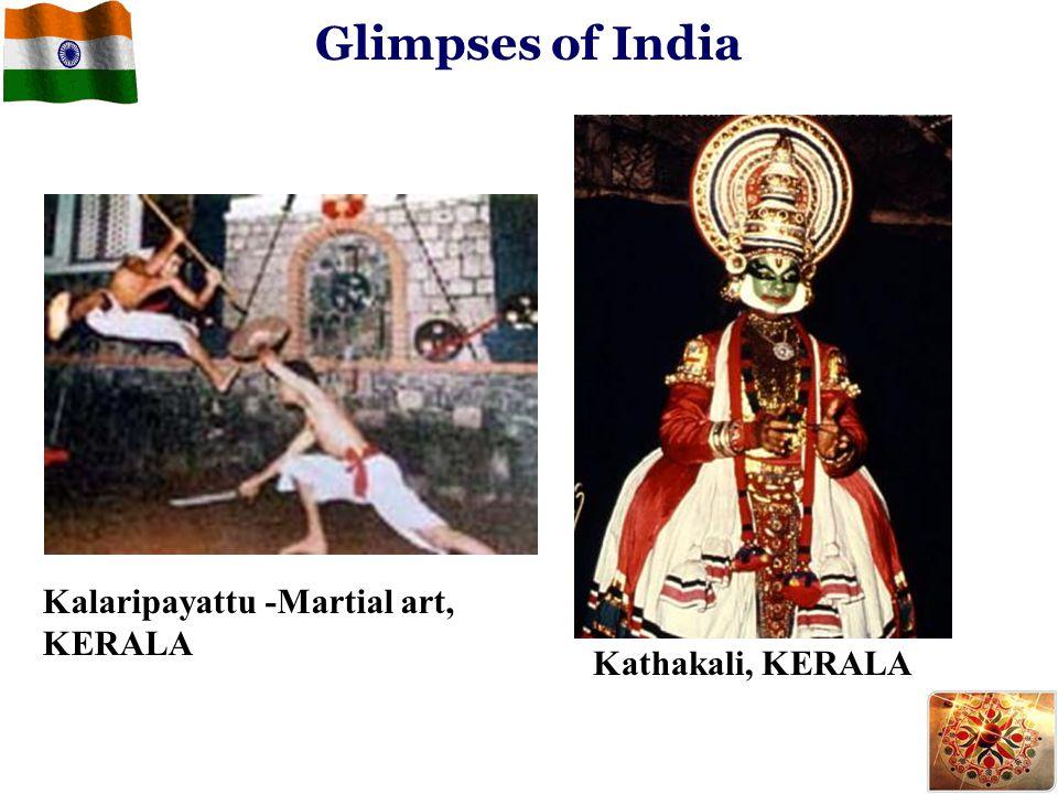Kalaripayattu -Martial art, KERALA Kathakali, KERALA Glimpses of India