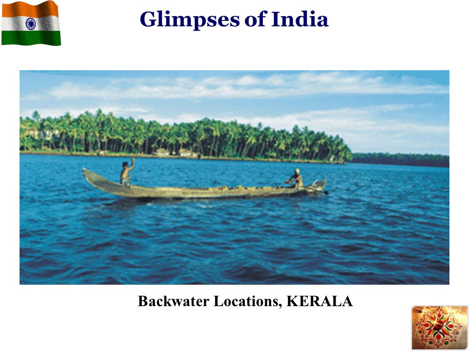 Backwater Locations, KERALA Glimpses of India