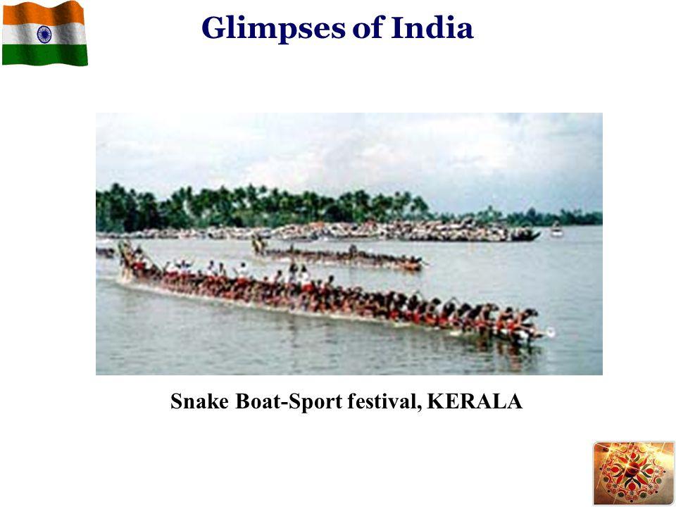 Snake Boat-Sport festival, KERALA Glimpses of India