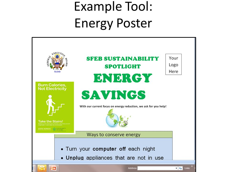 Example Tool: Energy Poster