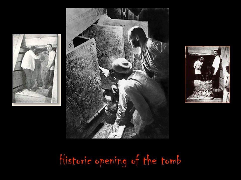 Historic opening of the tomb