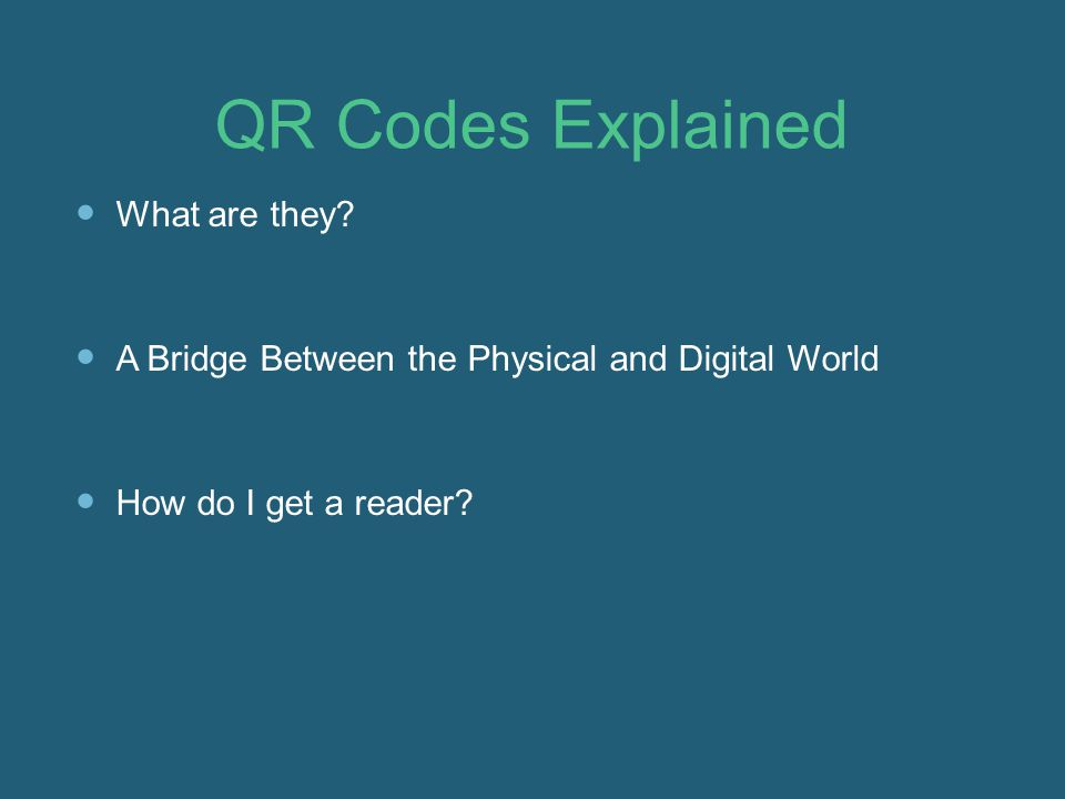 QR Codes Explained What are they.