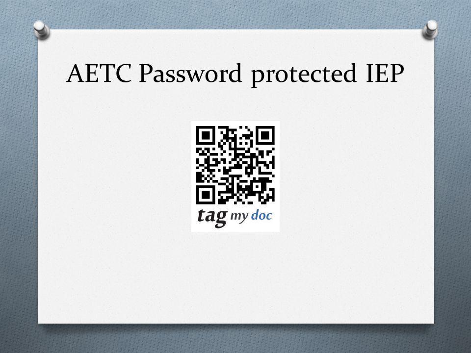 AETC Password protected IEP
