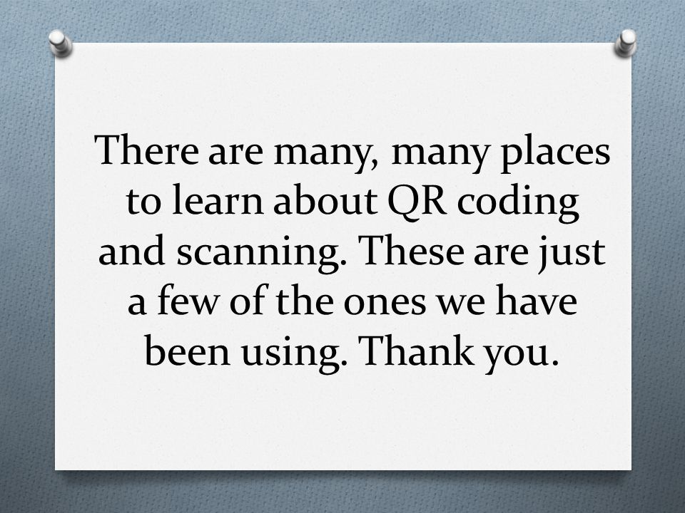 There are many, many places to learn about QR coding and scanning.