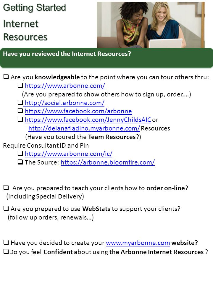 Have you reviewed the Internet Resources? Getting Started InternetResources  Are you knowledgeable to the point where you can tour others thru:  htt