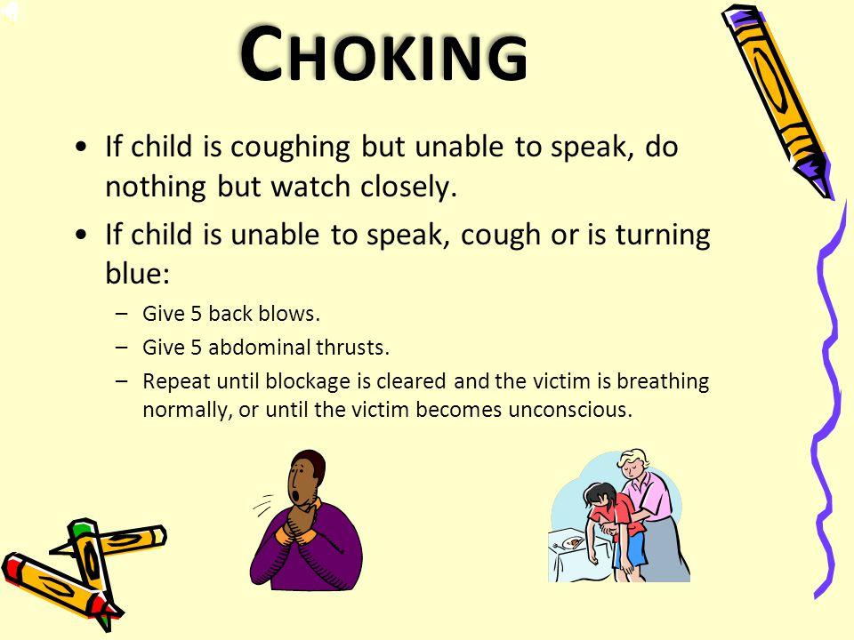 E MERGENCY C ARE FOR : Choking Bleeding Poisoning Severe Allergic Reaction