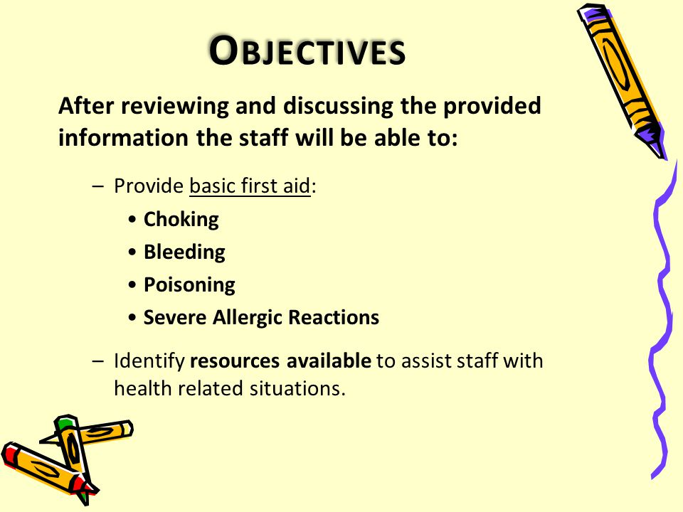 FIRST AID REVIEW FOR EARLY CHILDHOOD