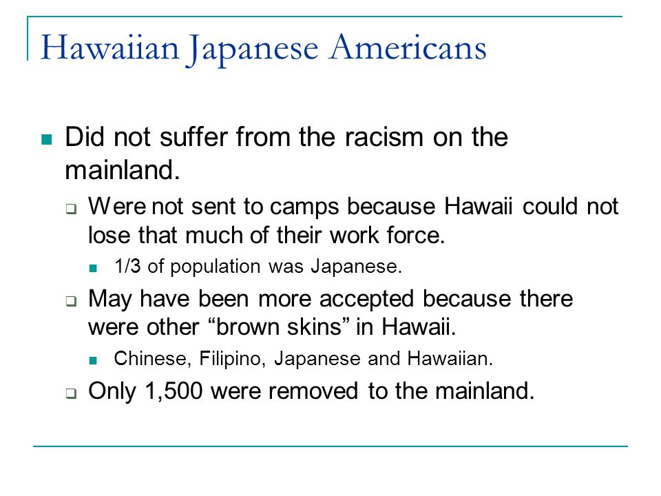 Japanese in the Military WWII: 1941  5000 in U.S.