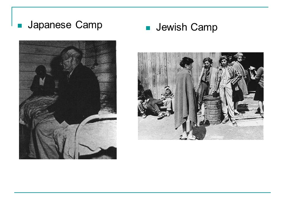 The Holocaust Concentration Camps vs. Japanese American Internment Camps Japanese Internment 1.