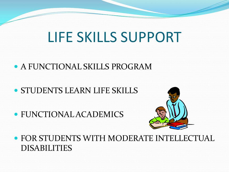 LIFE SKILLS SUPPORT A FUNCTIONAL SKILLS PROGRAM STUDENTS LEARN LIFE SKILLS FUNCTIONAL ACADEMICS FOR STUDENTS WITH MODERATE INTELLECTUAL DISABILITIES