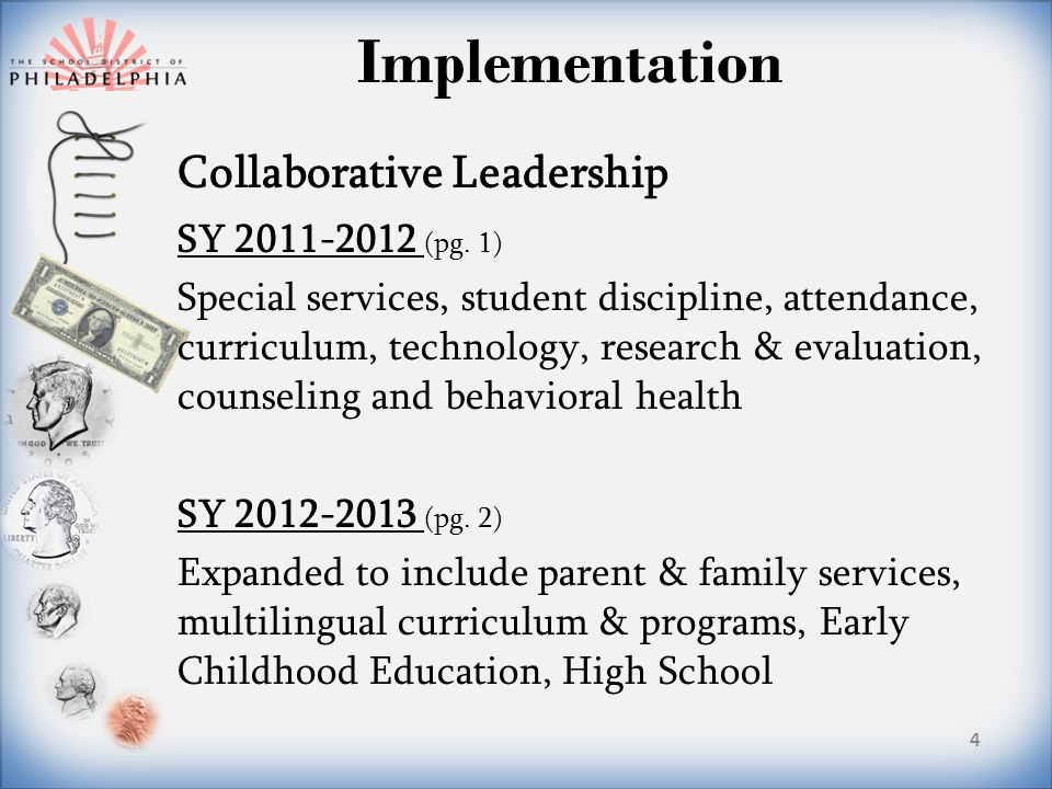 Implementation Collaborative Leadership SY 2011-2012 (pg.
