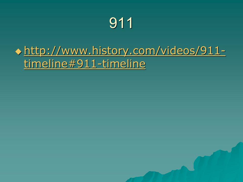 911  http://www.history.com/videos/911- timeline#911-timeline http://www.history.com/videos/911- timeline#911-timeline http://www.history.com/videos/911- timeline#911-timeline