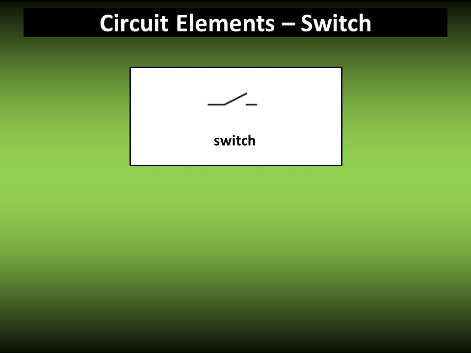 Circuit Elements – Switch switch