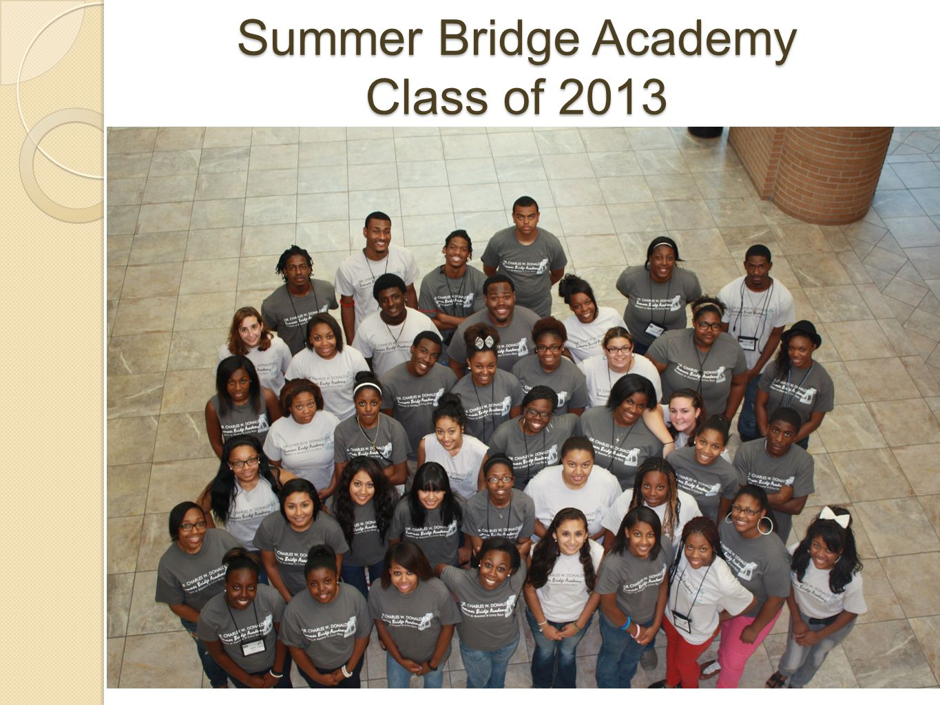 Summer Bridge Academy Class of 2013
