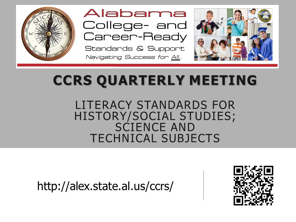 OUTCOMES Participants will 1.Demonstrate an understanding of the relationships among the CCR anchor standards, literacy standards, and grade level content standards 2.Gain an understanding of the Tri-State Quality Rubric 3.Analyze lessons by using the rubric 4.Enhance lessons to assure implementation of CCR standards 5.Prepare to share resources with district team and colleagues