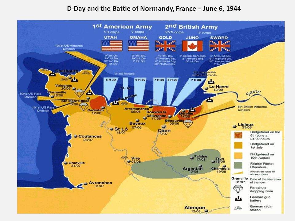 D-Day and the Battle of Normandy, France – June 6, 1944
