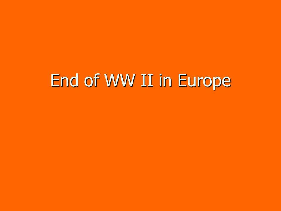 End of WW II in Europe