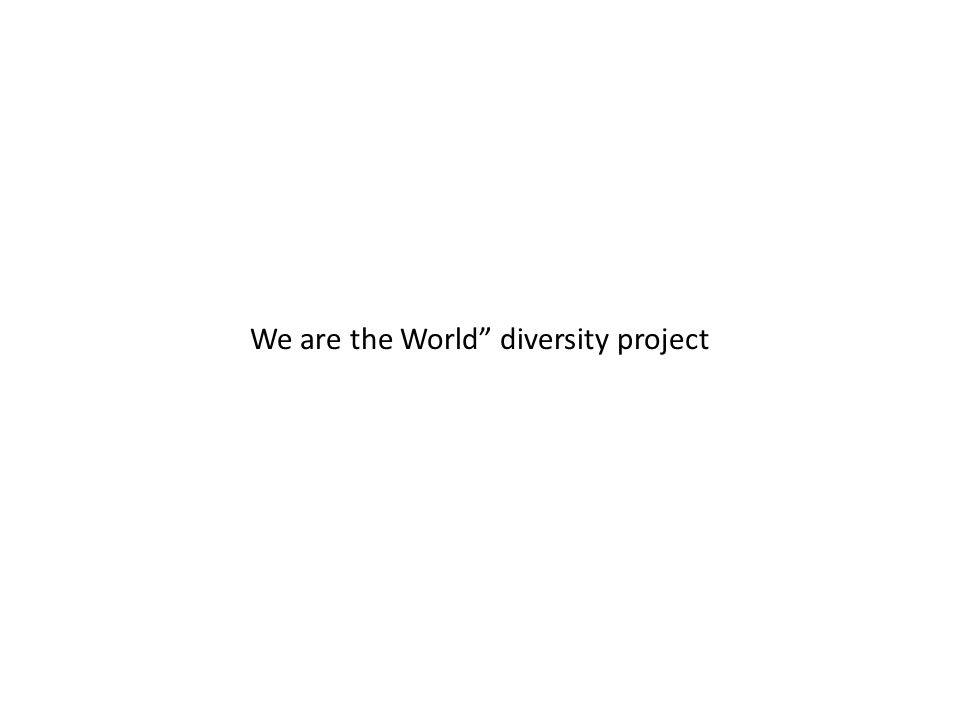 We are the World diversity project