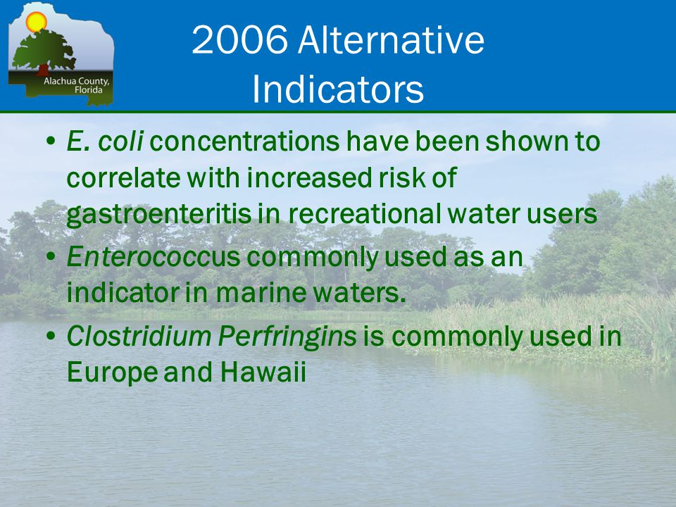 2006 Alternative Indicators E.