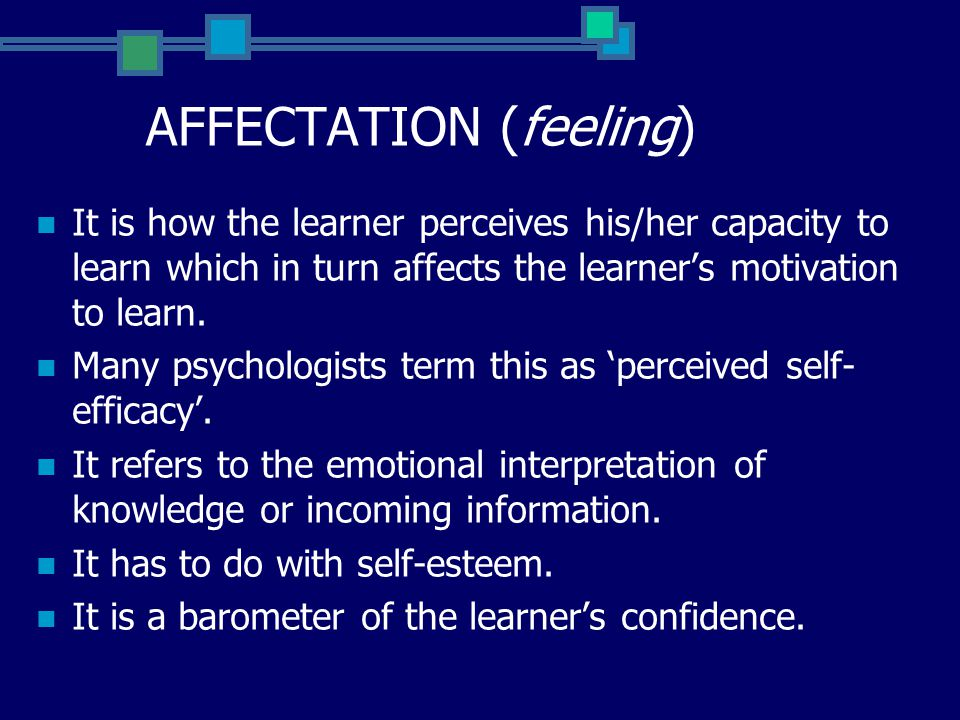 The interaction continues with the learner's sense of status as a learner triggering a complementary level of self-esteem and producing an outlook of confidence and a willingness to persist in engaging in similar tasks in the future.