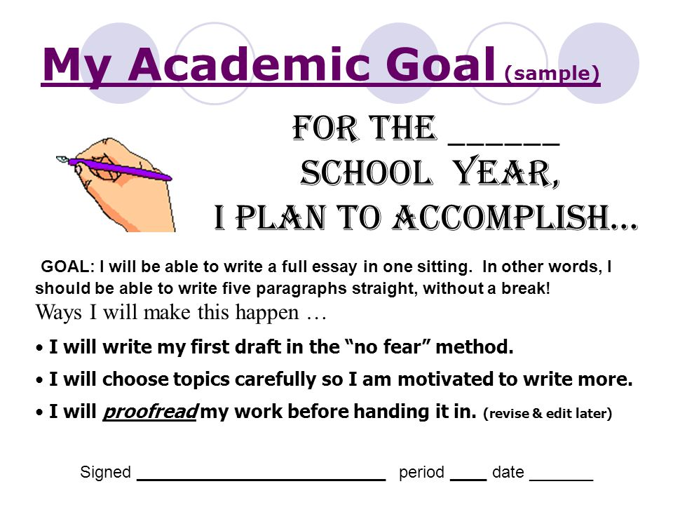 my professional academic goals It is only when a person has a clear thought about their career goals and objectives that sample career goals, list of career once a professional gets.