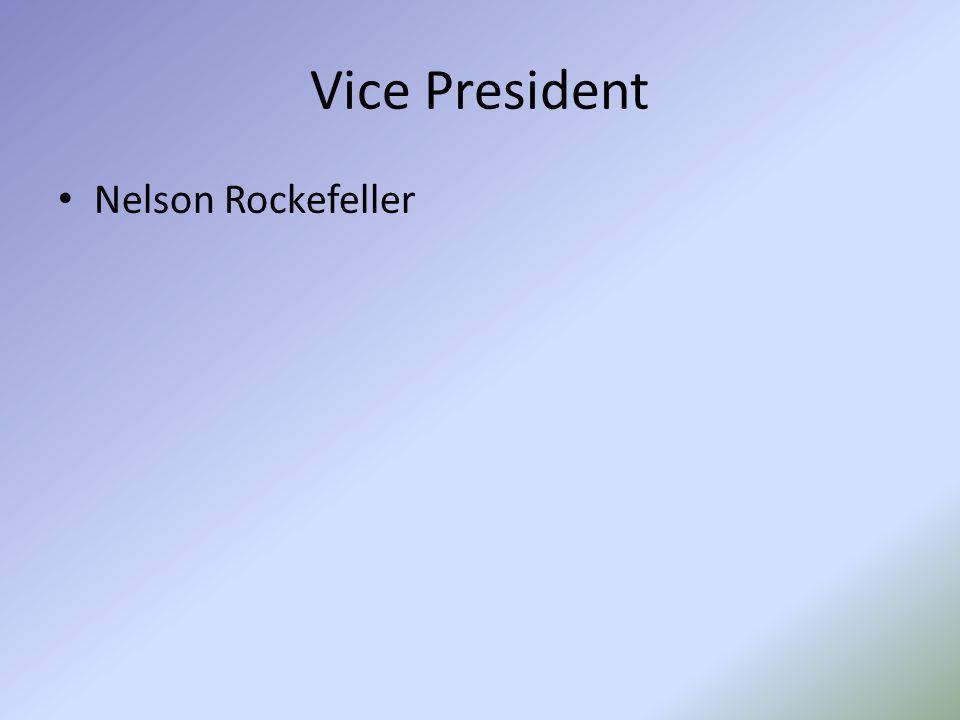 Vice President Nelson Rockefeller