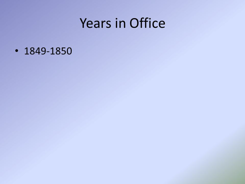 Years in Office 1849-1850