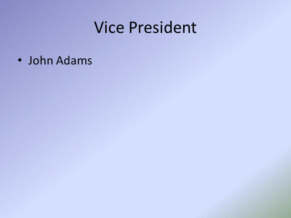 Vice President John Adams