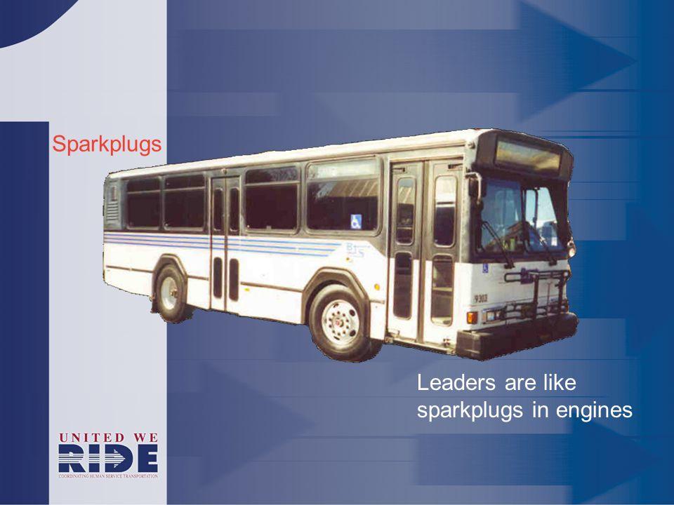 Sparkplugs Leaders are like sparkplugs in engines