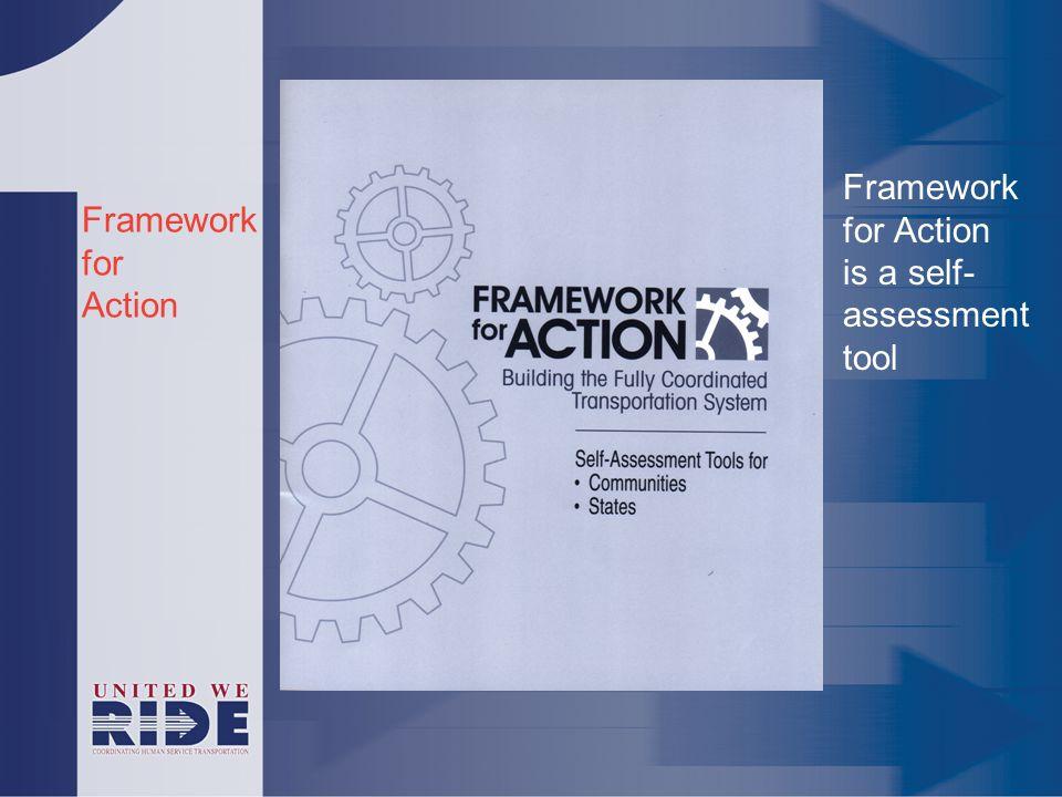 Framework for Action Framework for Action is a self- assessment tool