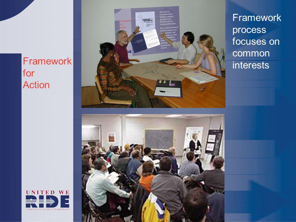 Framework for Action Framework process focuses on common interests