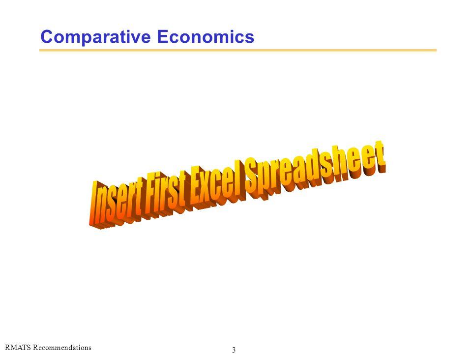 3 RMATS Recommendations Comparative Economics