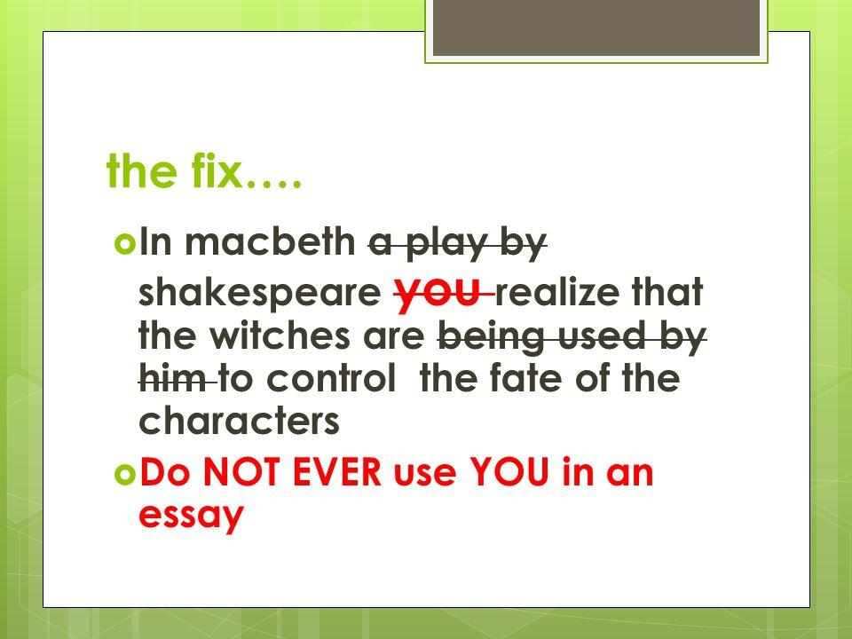 the fix….