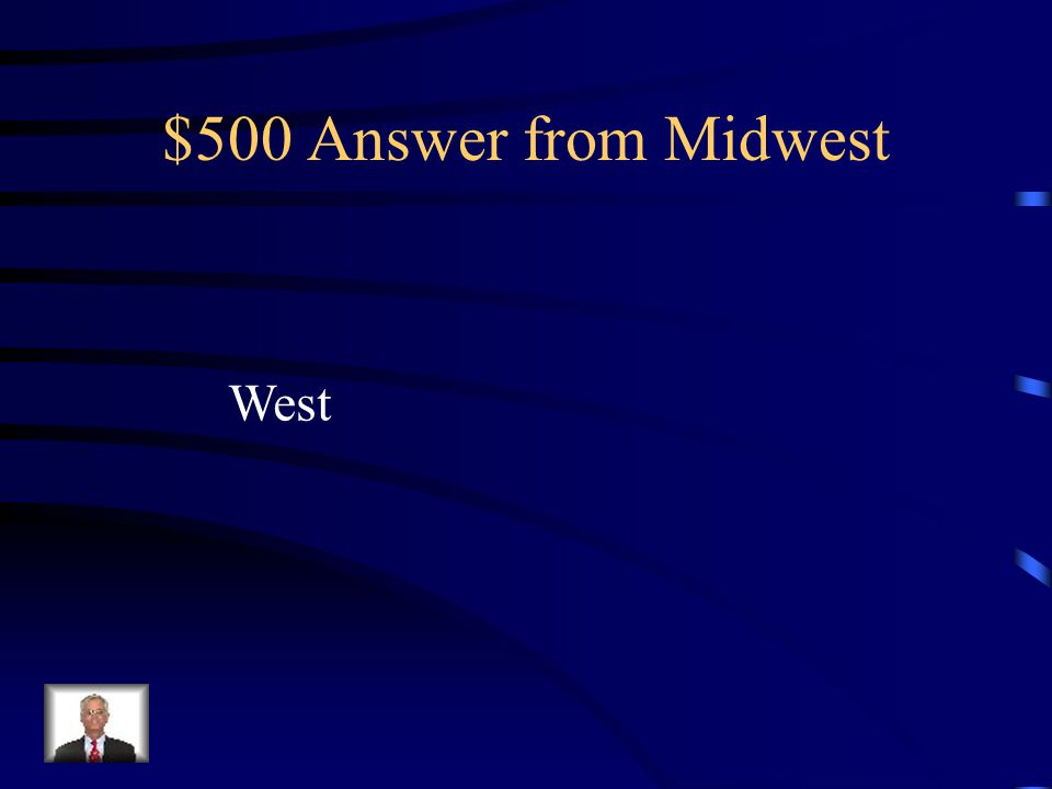 $500 Question from Midwest Iowa is _______ (direction) of the Mississippi River.