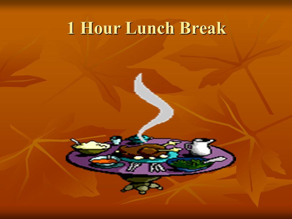 1 Hour Lunch Break