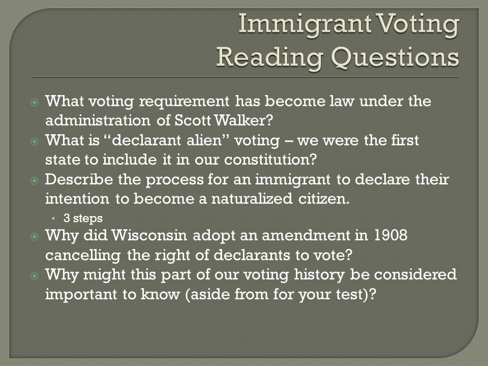  What voting requirement has become law under the administration of Scott Walker.