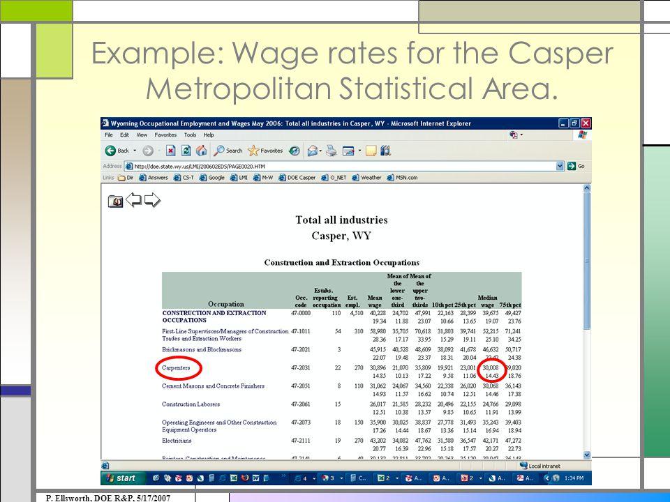 Example: Quarterly Census of Employment & Wages P. Ellsworth, DOE R&P, 5/17/2007