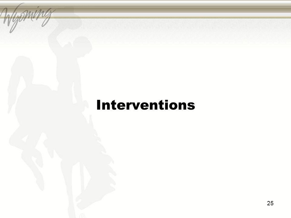 Interventions 25
