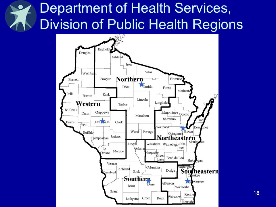 18 Department of Health Services, Division of Public Health Regions