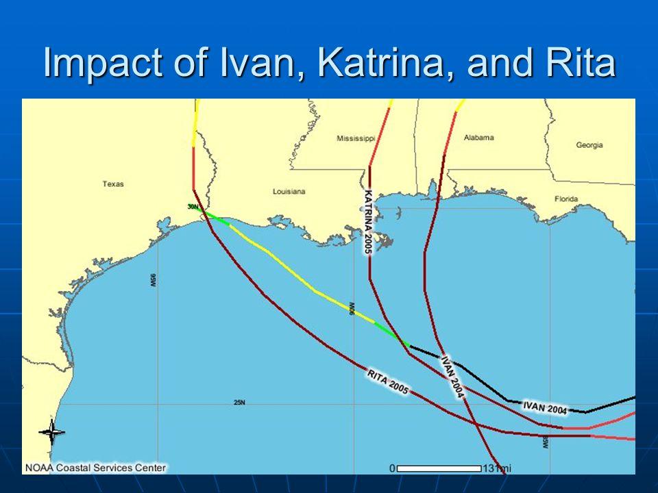 Impact of Ivan, Katrina, and Rita