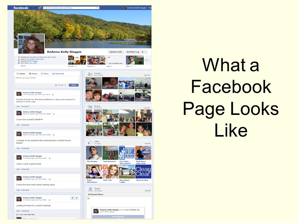What a Facebook Page Looks Like